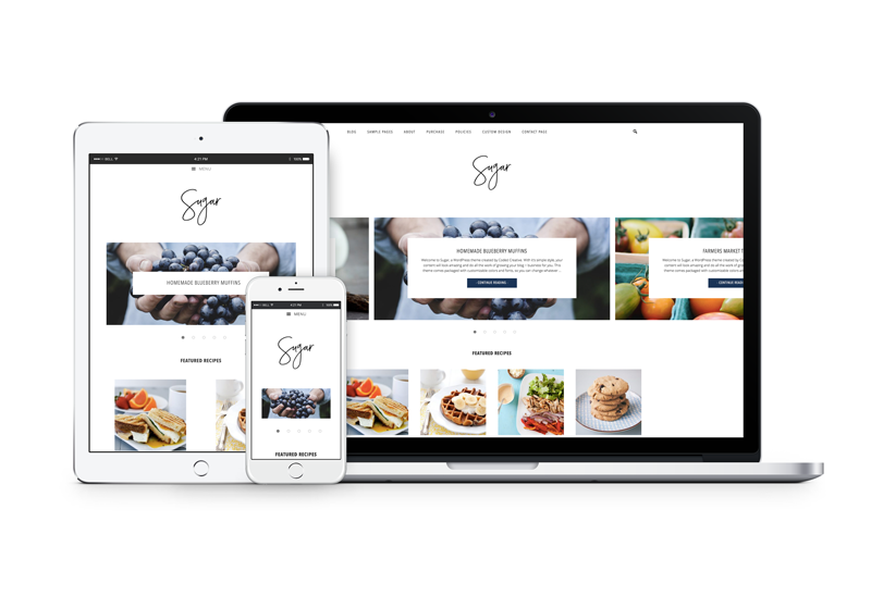 Sugar: A Foodie WordPress theme by Coded Creative